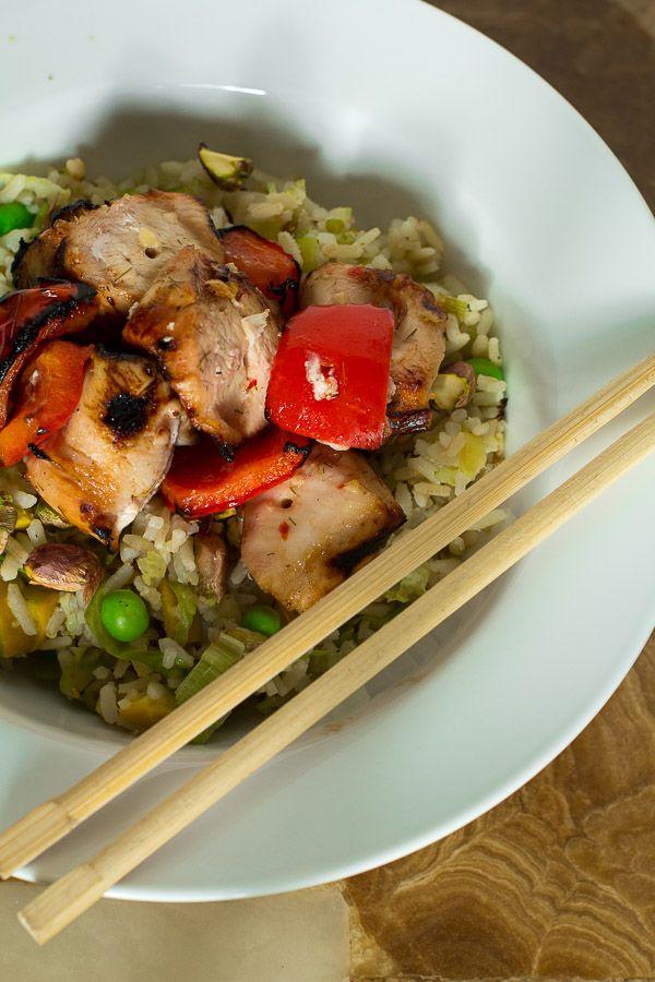 edible sound bites - Home - Thai-Style Chicken Rice Bowl