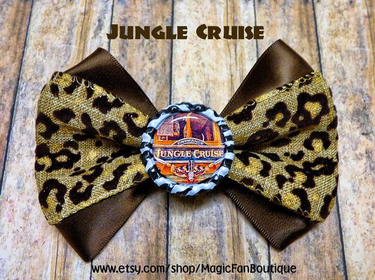 Jungle Cruise Hair Bow https://www.etsy.com/listing/244671853/jungle-cruise-disneyland-bow-walt-disney