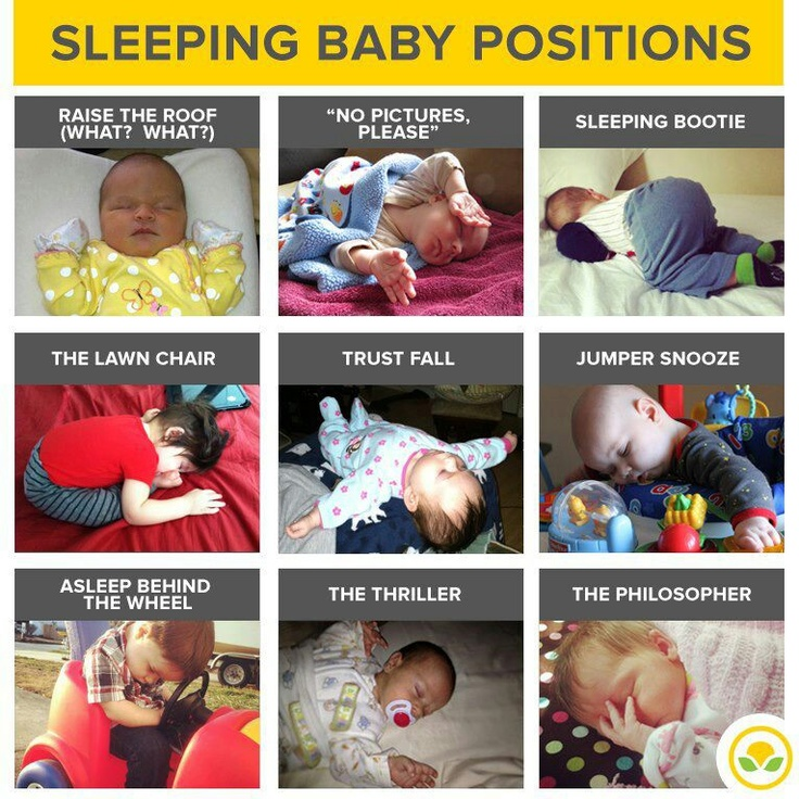 """Baby Sleeping Positions...our fave however is the """"Neato Burrito"""" aka tight swaddle!"""