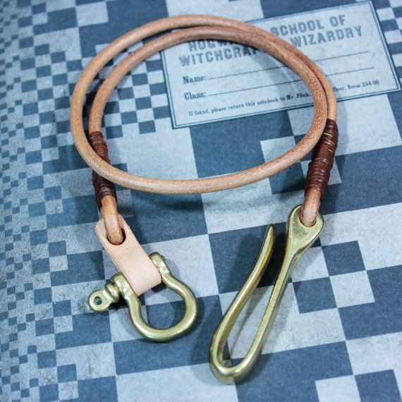 Leather Lanyard Wallet Chain Lanyard by Monkeychain196 on Etsy, ฿1800.00