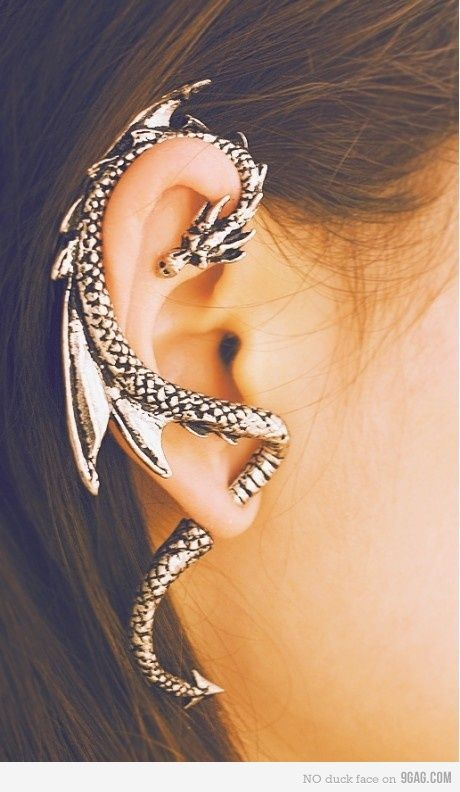 .Fashion, Dragons Ears, Style, Piercing, Ear Cuffs, Jewelry, Accessories, Dragons Earrings, Ears Cuffs
