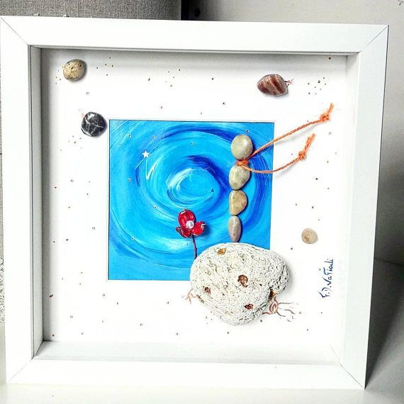 https://www.etsy.com/listing/580751935/pebble-art-frame-the-little-prince-baby  #fdvafiadi