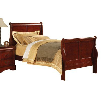 Alcott Hill Larsen Traditional Sleigh Bed Size: California King, Color: Cherry