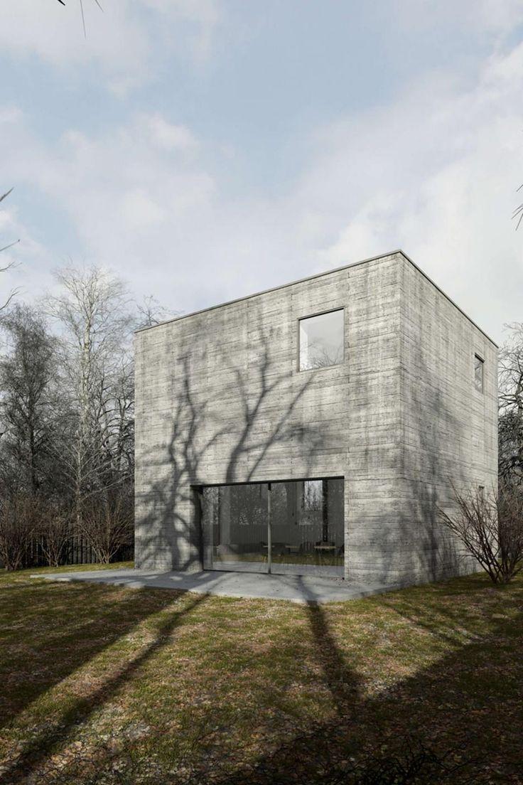 Betónová kocka - projekt prestavby typového domu, Poľsko | Archinfo.sk