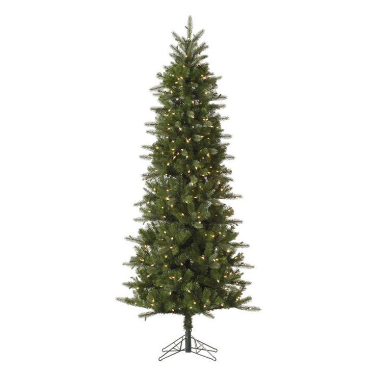 12 ft. Vickerman Carolina Pencil Slim Pre-lit Christmas ...