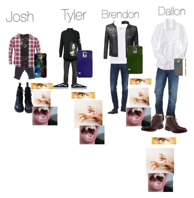 """""""The McCall Twins Brendon, Dallon, josh and Tyler first hunt"""" by samtiritilli on Polyvore featuring Brandy Melville, Levi's, Dsquared2, Dr. Martens, Samsung, AllSaints, Enfants Riches Déprimés, Vans, The White Briefs and True Religion"""
