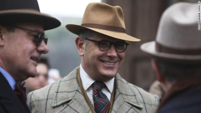 Latest British fashion for men--love all the plaid!