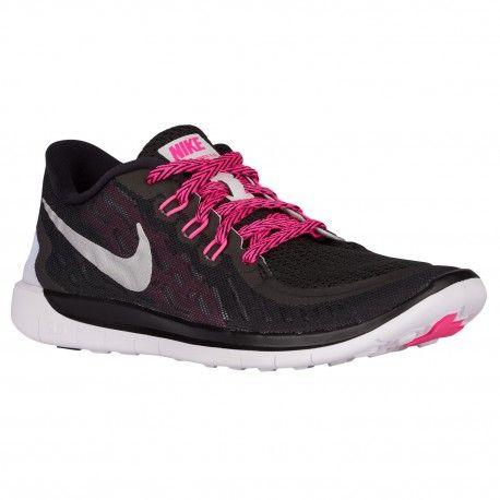 Nike Free 5.0 2015 - Girls' Grade School - Running - Shoes - Black/Vivid  Pink/Pink Pow/Metallic Silver-sku:25114006