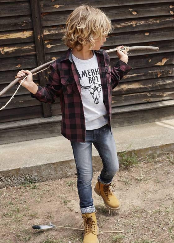 Image of Camiseta American Boy (preta ou cinza) - MANGO Kids