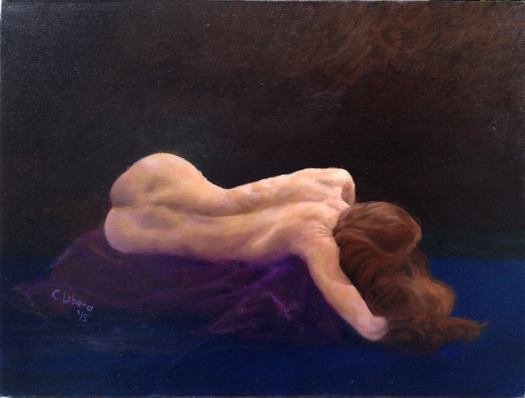 Reclining Back Oil on canvas  Artist: Cyprian Libera