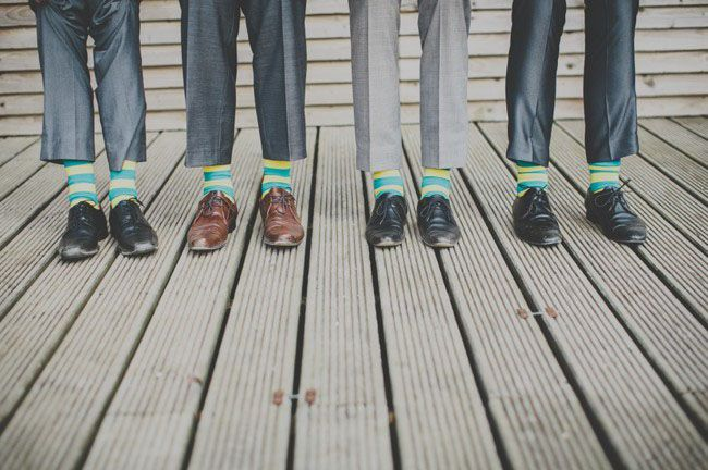 A touch of the unexpected for your groomsmen's feet