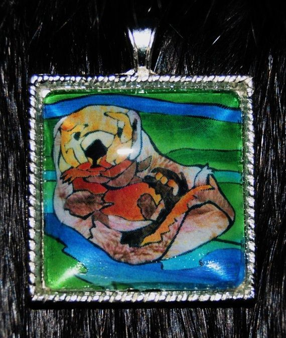 Otter Pendant by KabloonaKreations on Etsy, $18.00