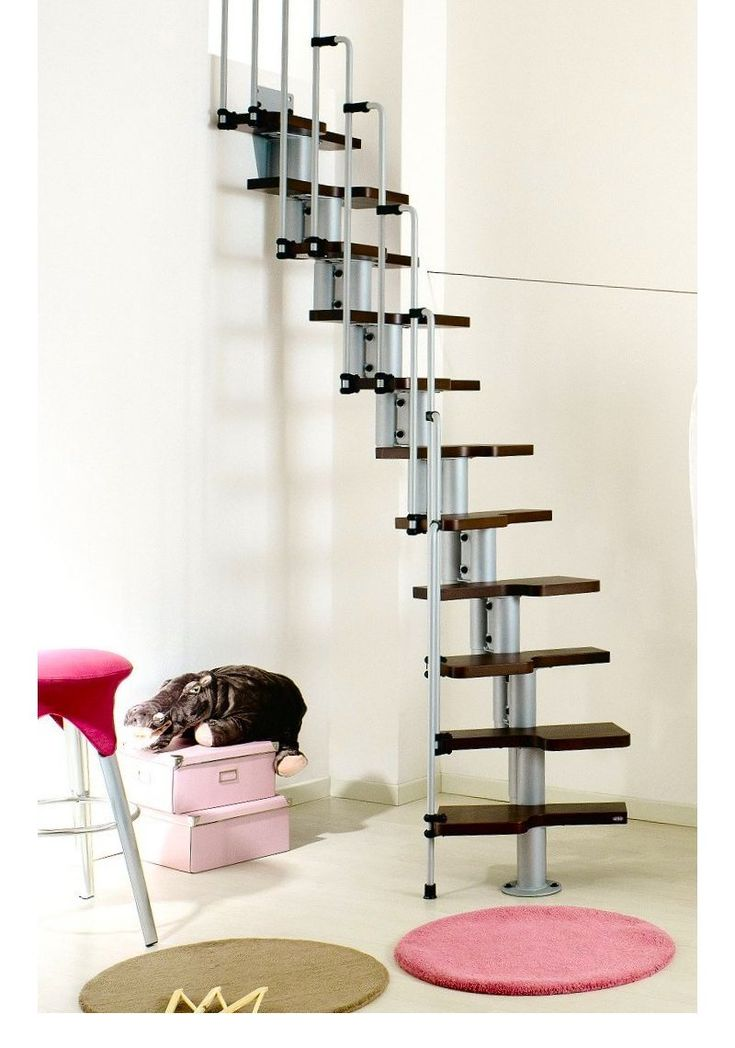 Interior Cool Space Saving Ladder Design With Dark