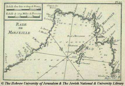 Map of Marseille, Joseph Roux, 1764