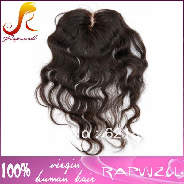Центр расставание свободные объемная волна Индийские волосы шелковые топ закрытия