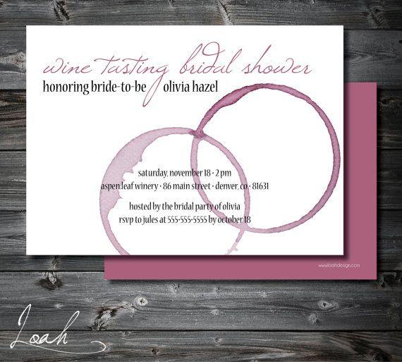 Custom Wine Tasting Bridal Shower Invitation  // 5x7 by LoahDesign