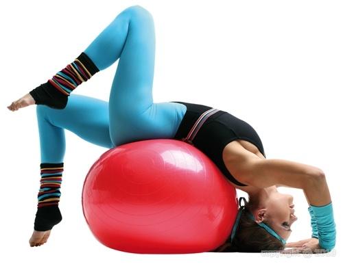 Un ballon pour la Gym douce, l'équilibre, les assouplissements, etc. - Sveltus Rouge 65cm