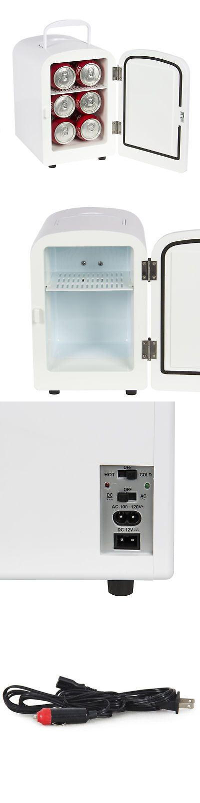 Mini Fridges 71262: Portable Mini Fridge Cooler And Warmer Auto Car Boat Home Office Ac And Dc White -> BUY IT NOW ONLY: $39.94 on eBay!