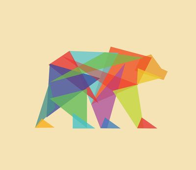 Fractal Geometric bear Art Print by Budi Satria Kwan