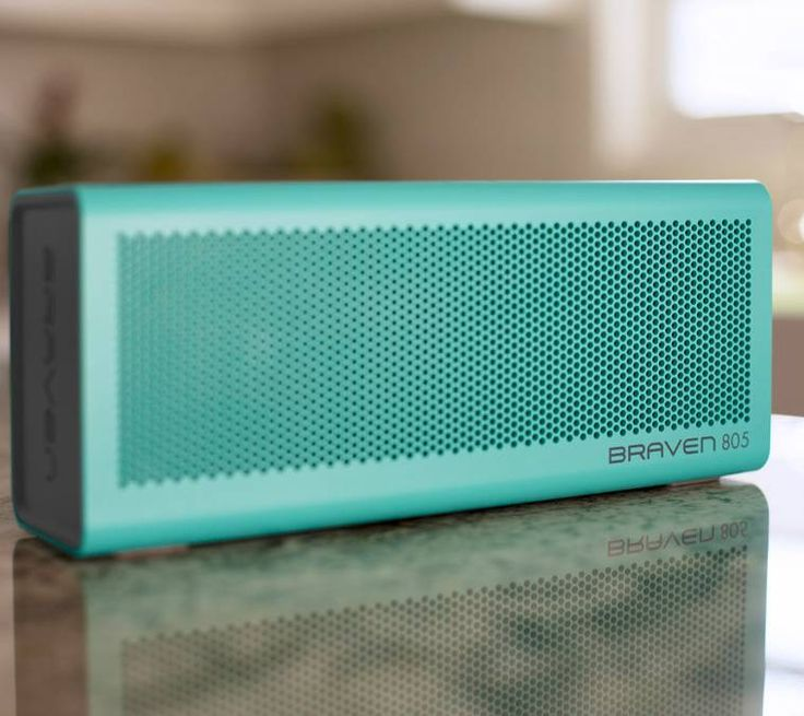 BRAVEN 805 Wireless Bluetooth Speaker -  Teal -  AUDIO  2 high-sensitivity drivers 2 passive radiators Dual-band limiters Built-in microphone & speakerphone SRS WOW HD bass-enhanced music...