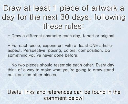 30 Day Drawing Challenge Drawingchallenge Tutorials