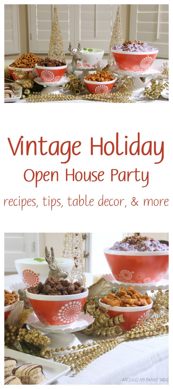 Recipes & Tips for throwing a Vintage Holiday Open House Party #ad