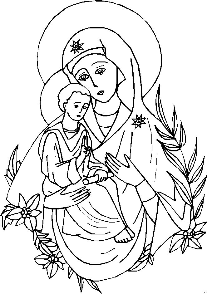 catholic kids coloring pages mary - photo#4