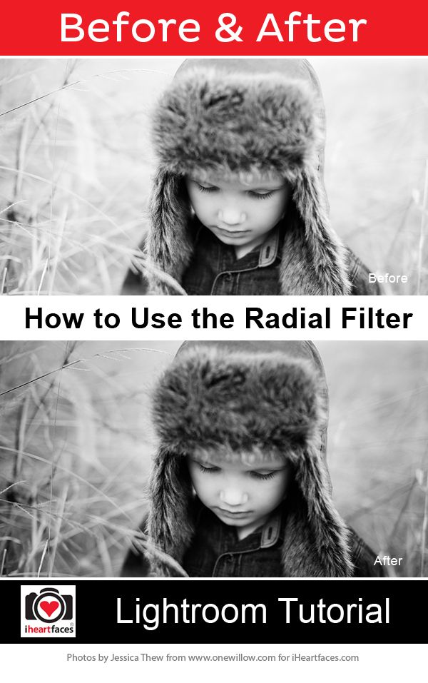 How to Use the Radial Filter in #Lightroom Tutorial by One Willow Studios for iHeartFaces.com