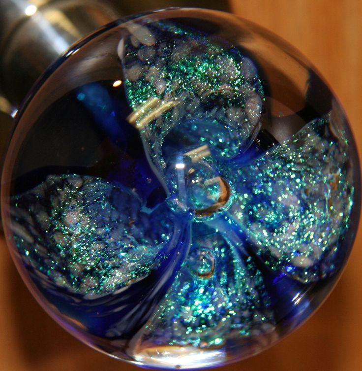Flower power glass door knob colored glass door knobes pinterest
