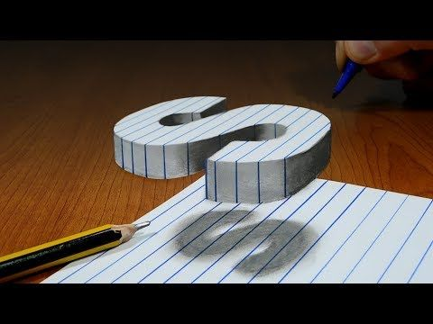 3d Trick Art On Line Paper Floating Letter S Youtube 3d Art Drawing Typography Artwork 3d Drawing Tutorial