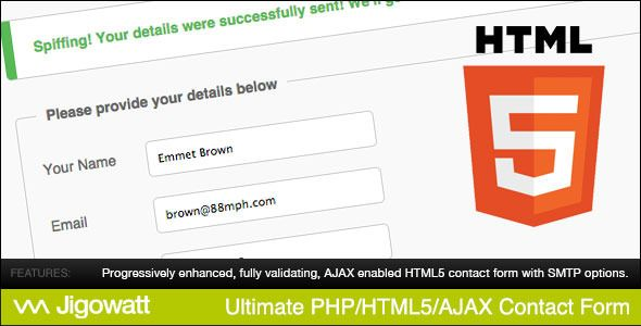 awesome Ultimate PHP, HTML5 & AJAX Contact Form
