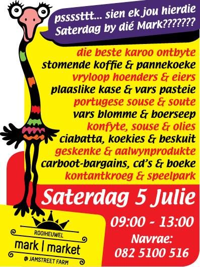 Rooiheuwel Market @ Jamstreet Farm from 09:00. Come hungry, come thirsty! #jamstreet #Oudtshoorn