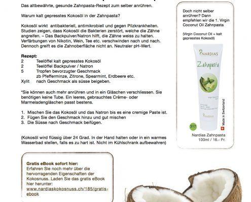 Nardias Zahnpasta, natürlich, made in Switzerland, ohne Fluorid
