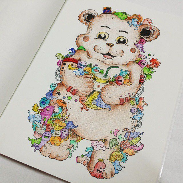 293 best Doodle Invasion - Coloring Book images on Pinterest ...