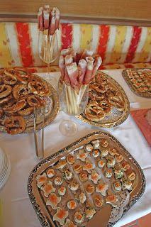 Hochzeitsempfang mit Imbiss