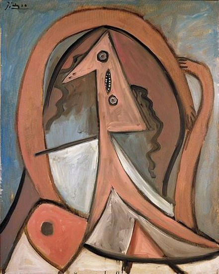 """...Pablo Picasso - """"Seated Woman"""". 1923"""