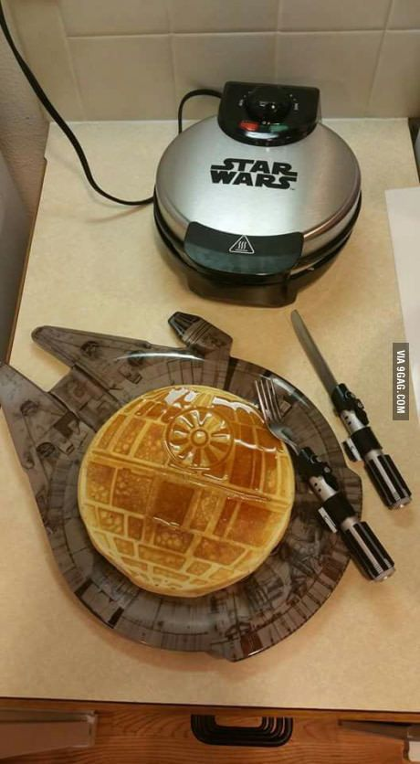 """Too much Star Wars"" I'd rather say ""there's no such thing as too much Star Wars"" :)) but i kinda want the cutlery and waffle maker. I have the board already haha"