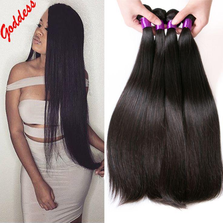 8A Brasilianisches Reines Haar 4 Bündel Deal Brasilianische Gerade Reine Haar Billig Brasilianische Haarwebart Bündelt Echthaar Haarverlängerungen
