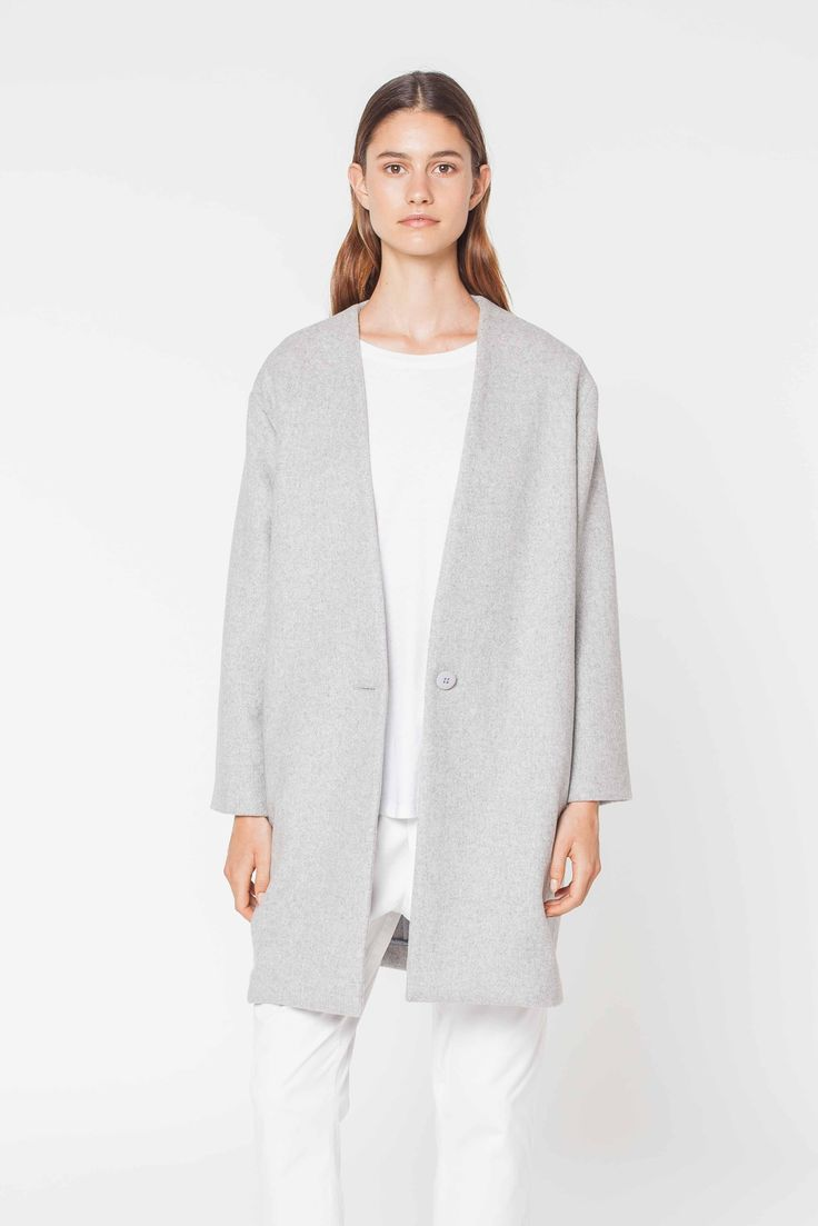 Assembly Label - Cocoon Coat Grey Marle