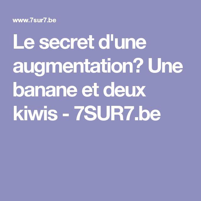 Le secret d'une augmentation? Une banane et deux kiwis - 7SUR7.be