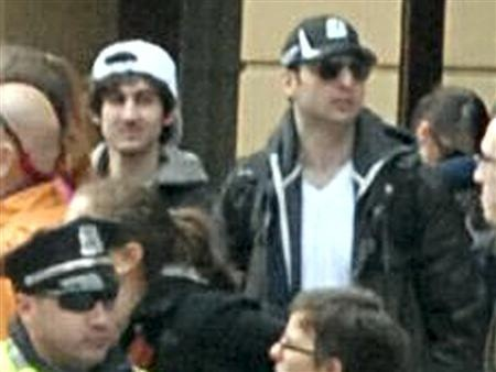 Suspects wanted for questioning in relation to the Boston Marathon bombing April 15 are seen in handout photo released through the FBI website, April 18, 2013. REUTERS/FBI/Handout THEY DID NOT have valid handgun licenses