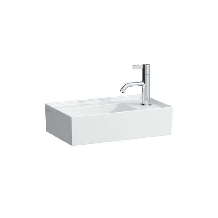 Small washbasin, asymmetric, tap bank right   LAUFEN Bathrooms