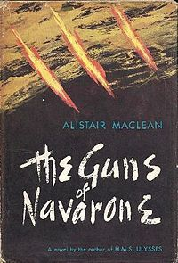 The Guns of Navarone is a 1957 novel about World War II by Scottish writer Alistair MacLean that was made into a critically acclaimed film in 1961.