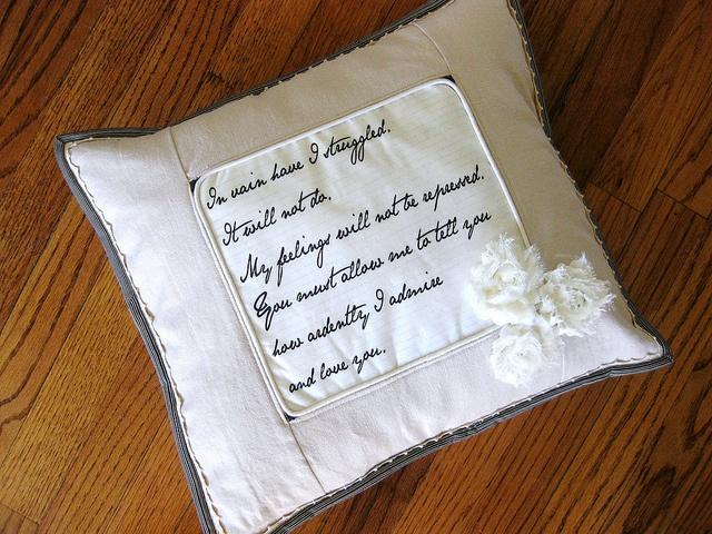 Pride and Prejudice pillow