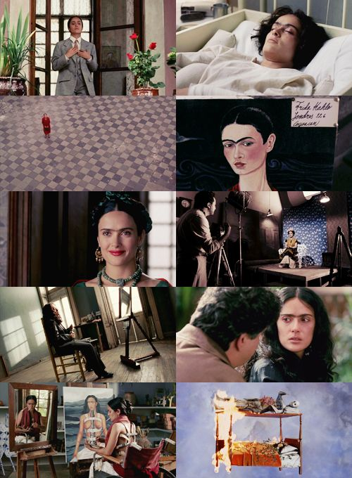 this movie is dark, intense, beautiful, deep, and moving ! FRIDA KAHLO played by Salma Hayek, famous actress and a beautiful woman!