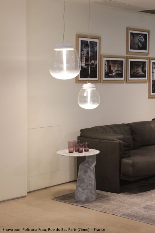 A nice lounge decorated with two #Empatia suspensions. #design Carlotta de Bevilacqua & Paola Monaco di Arianello