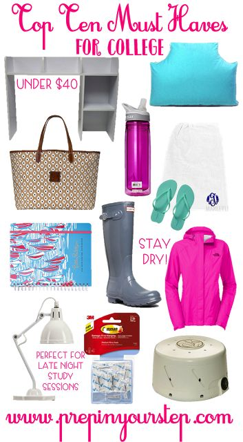 My Top 10 Must Haves For College
