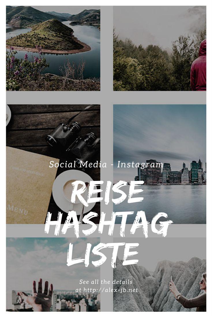 Mega Liste mit Hashtags für Instagram zum Thema Reisen. Kostenloser Download des PDF