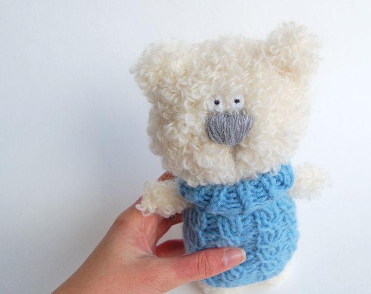Crochet Bear Doll, Stuffed Bear Teddy, Stuffed animal, Plush Bear, Soft Sculpture by RomeoShop on Etsy