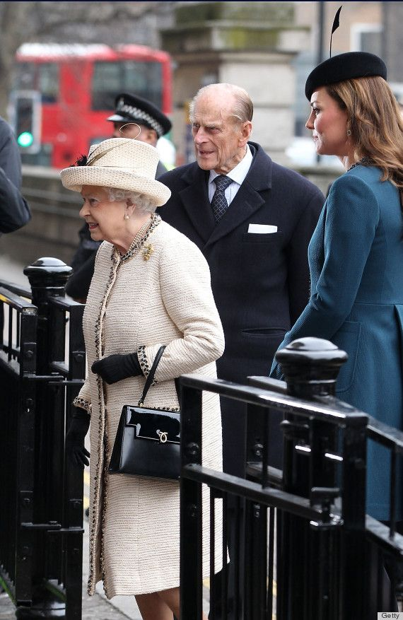 Well, Catherine hopped right back on the public transport system today when she made an official visit to Baker Street Underground Station with Queen Elizabeth II and Prince Philip. The funny thing is that she reportedly requested to go and seemed to enjoy herself while at the event honoring the London Underground's 150th anniversary.